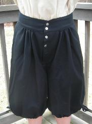 17th Century Men's Linen Breeches; 17th Century Men's Wool Breeches; 17th Century Men's Fustian Breeches;